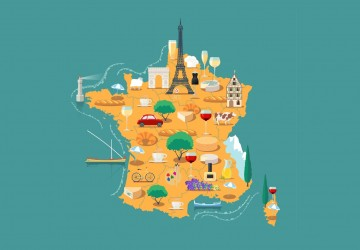 Map of France vector isolated illustration